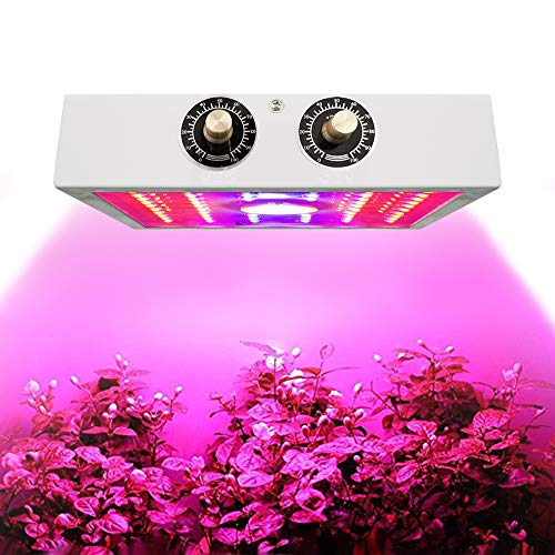 ZMHS LED Grow Light 1100W Full Spectrum Plant Lamp Growing Light, with Adjustable Dimmer Knob, for Indoor Plants Hydroponics Greenhouse Fruits Veg