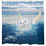 Caticorn, Cat Duschvorhang von Sharp Shirter, multi, 180 cm x 188 cm(Standard)