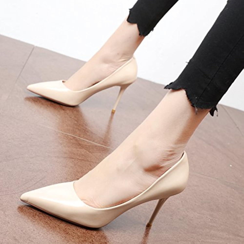 FLYRCX PU-seicht Schlank und High High Heel Schuhe Lady Temperament Partei Schuh Arbeitsschuhe  Discounter