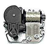 Bankour Silver Plated Wind up Sankyo Musical Movement for DIY Music Boxes (50 Tunes Option) (Amazing Grace)