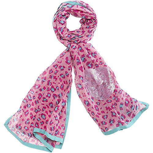 cute stuff sjaal Bagira met pailletten hart, roze, ca. 190 x 100 cm.