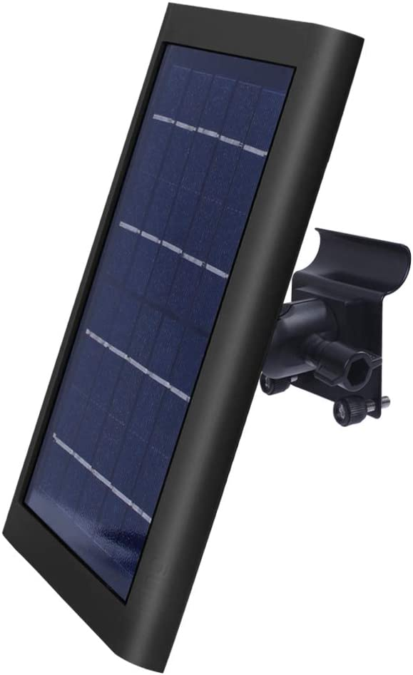 Vinyl Siding Clips for Ring Solar Panle - by TIUIHU - Compatible with Any Other Solar Panel with 1/4 Screw - Durable and Simple Install (Black)