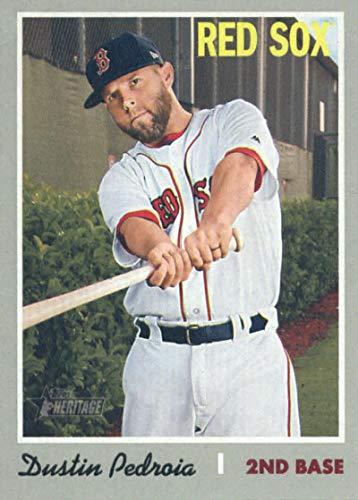 2019 Topps Heritage #251 Dustin Pedroia Boston Red Sox Baseball Card
