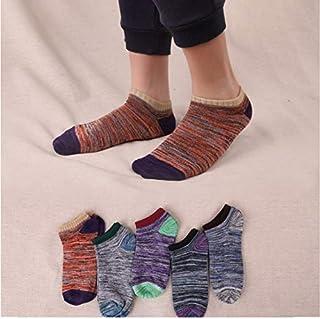 5 pares de calcetines de algodón de moda para hombre calcetines retro casuales de verano cómodos y desodorantes transpirables calcetines de los hombres