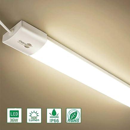 Luci Al Neon Per Ufficio.Amazon It Neon Plafoniere Da Ufficio Lampadari Lampade A