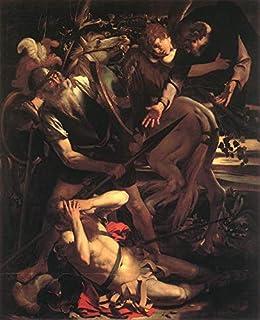 Singing Palette 8 Dipinti Famosi - €40-€1500 Pittura a Olio a Mano da pittori accademici - Conversion of St Paul Caravaggi...
