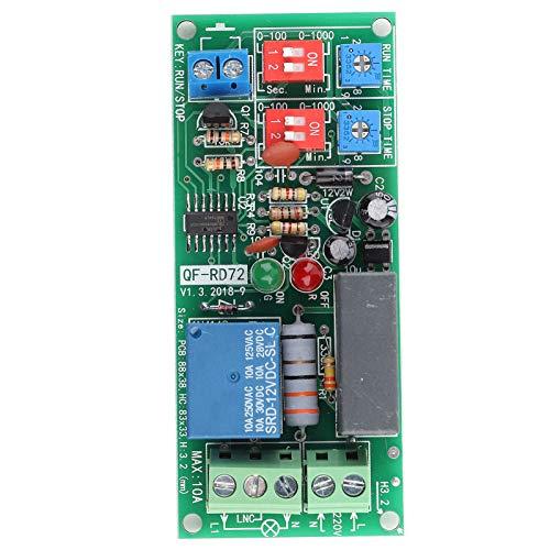 AC100V ~ 250V Infinite Cycle Delay Unendliche Zyklus Timer Relais Schalter Loop Switch Modul mit LED Display 0,5s ~ 1000min Einstellbar