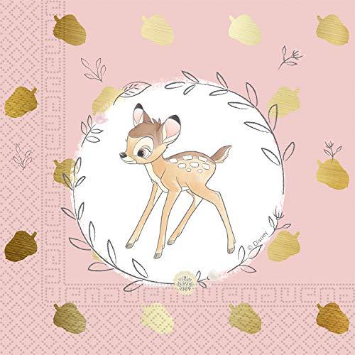 Procos - Serviette 33 cm 3 plis Bambi Cutie, multicolore, 5PR89900