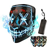 Halloween Costume Festival Parties Scary Mask LED Light Up Masks Blue