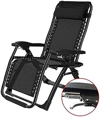 ZXH Folding Sun Loungers Padded Folding Steel Frame Outdoor Chair Garden Beach Deck Chairs Deckchairs Beach Outdoor Travel Seat Color : #1