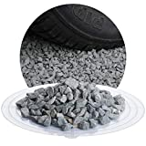 Schicker Mineral Diabas Splitt grau 25 kg in den Größen 1-3 mm, 2-5 mm, 5-8 mm, 22-32 mm, 32-56 mm, ideal zur Gartengestaltung, hellgrauer Naturstein Splitt (Diabas Splitt, 8-11 mm)