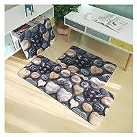 バスルーム滑り止めマット厚いフランネルバスルームカーペットバスルームカーペット滑り止めバスルーム滑り止めマット洗濯機で洗える、超柔らかく吸収性のバスルームカーペット (Color : 0061, Specification : 45x75 cm 1pcs)