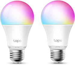 TP-Link Tapo Smart Wi-Fi Light Bulb Multicolour 2-Pack - B22, 8.7W, No Hub Required, Works with Amazon Alexa (Echo and Ech...
