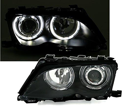 Preisvergleich Produktbild Angel Eyes Scheinwerfer Set in Klarglas Schwarz