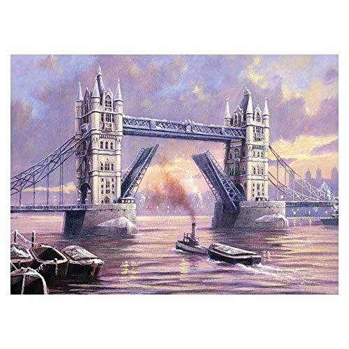 Royal & Langnickel PAL31 - Kit pintar siguiendo los números a3 deseno puente de la torre
