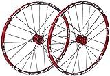YUCHEN- Neumáticos de las ruedas de bicicletas radios de la llanta 26 MTB Rueda de bicicleta de pared doble Ciclismo Ruedas V-Brake Disc aro Freno de disco perforado 24 de ruedas de aleación de alumin