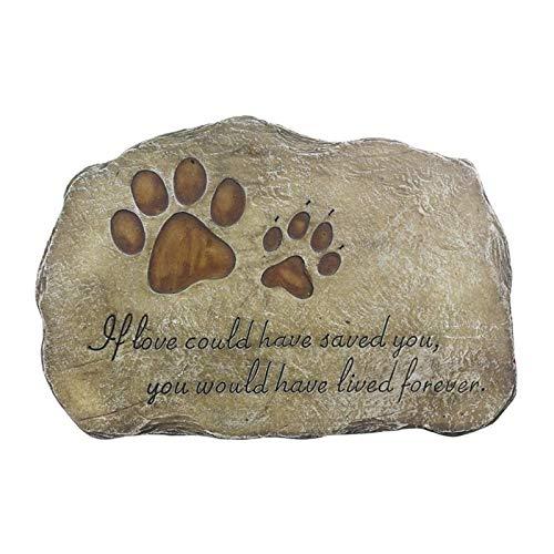 Z-Y Lápida de Perro Memorial de Piedra Mascota Marcador Perro o Gato for Jardín de Piedra for los Seres Mascota Mascota Grave pérdida lápida sepulcral de Regalo Mascota (Color : Gray)