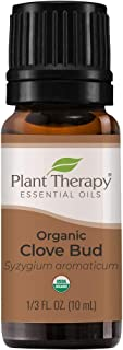 Plant Therapy Organic Clove Bud Essential Oil 100% Pure, USDA Certified Organic, Undiluted, Natural Aromatherapy, Therapeu...