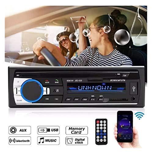 GUANGGUANG Heartwarming Shop 24V Coche estéreo Audio Bluetooth 1 DIN Car MP3 Multimedia Player USB MP3 FM Radio Player JSD-520 con Control Remoto