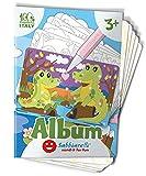 Sabbiarelli Sand-it For Fun - Álbum Chacorros del Mundo: 10 Dibujos pre-pegados para Colorear con la Arena (Arena no incluida), Adecuado para niños de años 3+,