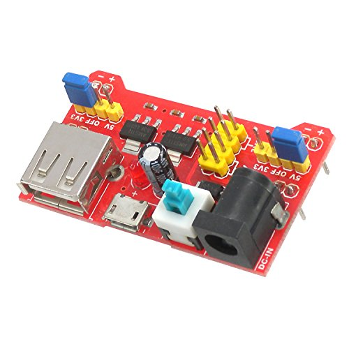MakerSpot Breadboard Power Supply Board Module 3.3V/5V Dual Voltage
