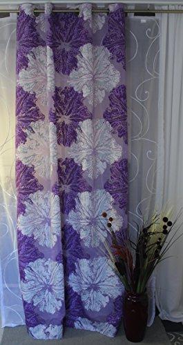 Elbersdrucke Ösenschal Barbara Becker Home Passion Gardine Store Dekoschal Vorhang Ausbrenner Qualität Ösen ca. 140 x 245 cm Violett