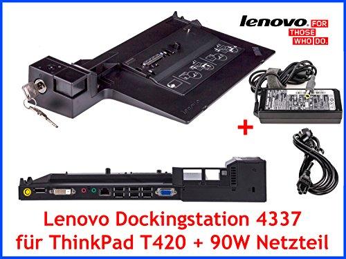 Lenovo Original Dockingstation 4337 + Schlüssel + 90W Netzteil für ThinkPad T420