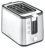 Krups KH 442 D Control Line Premium Toaster, Edelstahl, silber/schwarz