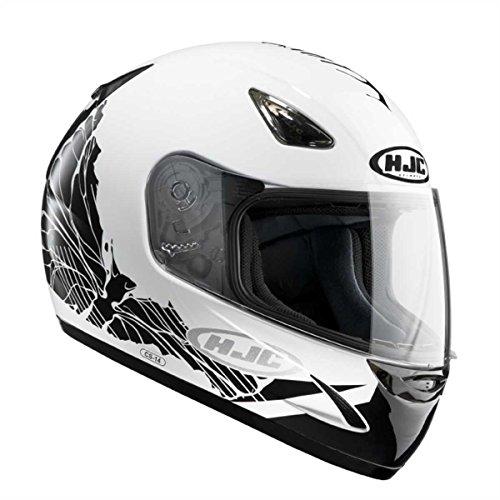 Casco de scooter Hjc Cs-14 Coco Mc-10, color blanco y negro, talla M (57/58)
