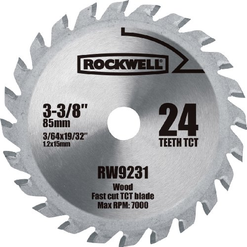 Rockwell RW9231 VersaCut 3-3/8-inch 24T Carbide-tipped Circular Saw Blade