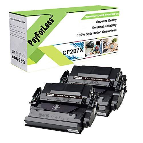 PayForLess 2PK for HP 87X CF287X 87A CF287A Toner for HP Laserjet Enterprise M506 M506DN M506N M506X Pro M501DN M501N MFP M527DN M527Z