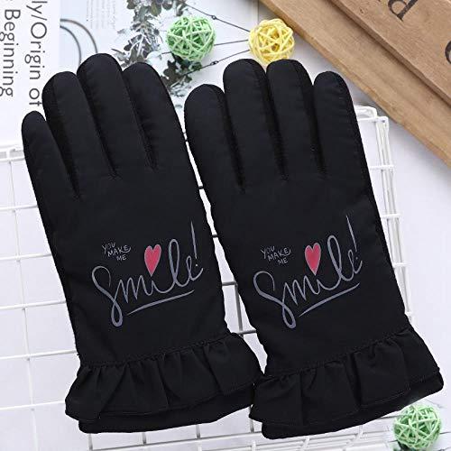 GUANAI Gant Cute Cartoon Windproof Sports Ski Gloves Boy/Girl Winter Warm Inside Bicycle Gloves Dark Blue