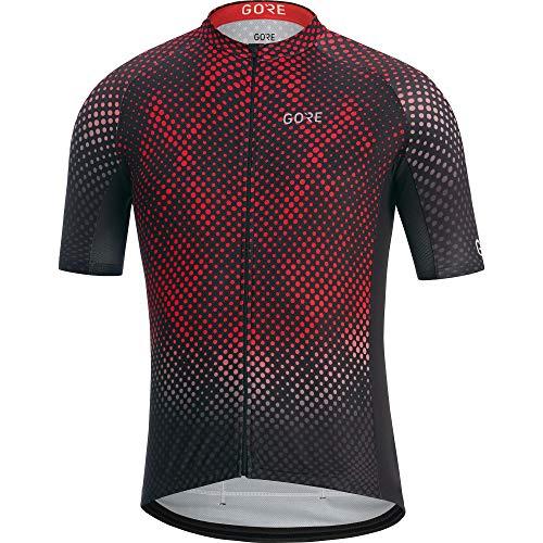 GORE WEAR Men's C3 Energia Jerseys, Black/red, S