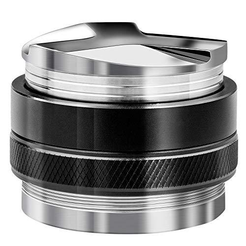 HENDR 53MM Coffee Distributor & Tamper Dual Head Stainless Steel Coffee Tamper Professional Espresso Distributor Leveler Tool… (51MM)