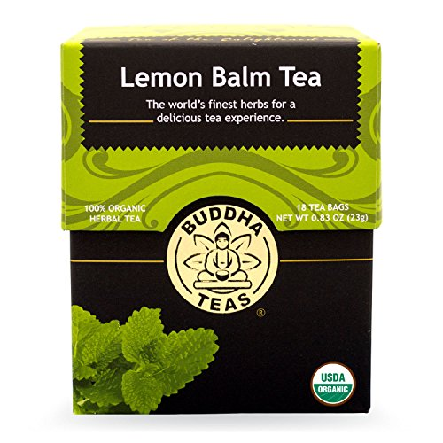 Buddha Teas Lemon Balm Tea, 18 Count (Pack of 6)