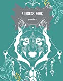 Address book paperback: White Dog Cover, Email Address Book And Contact Book, with A-Z Tabs Address, Phone, Email, Emergency Contact, Birthday 120 Pages 8.5' x 11'