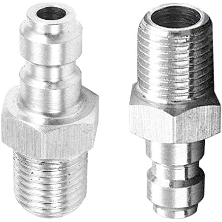 1//8NPT Dual Male Adapter Quick Disconnect Stainless Steel Connector Paintball
