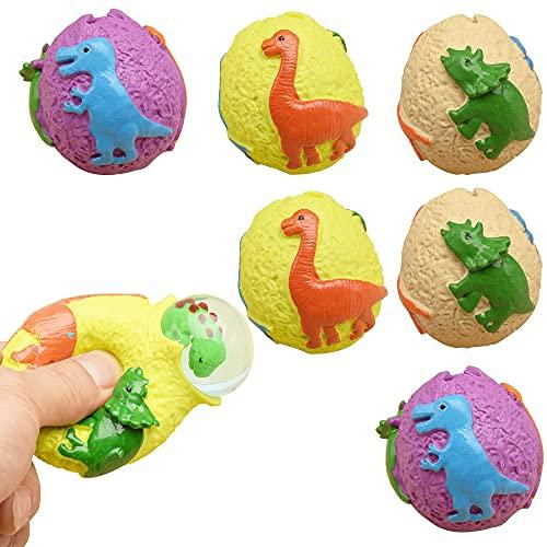 BenRan 二代恐竜の卵 スクイーズ おもちゃ 6個セット面白い ストレス発散グッズ 雑貨 自閉症 贈り物 子供大人に適用 色ランダム発送