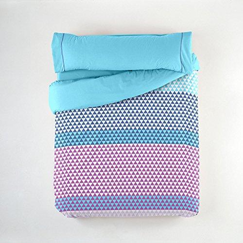 Purpura Home Juego Funda nórdica Bianca Cama 105 cm. Azul - Sedalinne