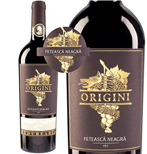 Echte Köstlichkeit - ORIGINI Feteasca Neagra 2015 | Trockener Rotwein aus Rumänien | Schwarze Mädchentraube 14,2% |12 Monate Barrique – DOC – CMD – Qualität
