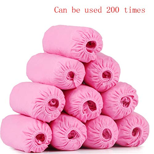 Disposable Shoe Covers, antislip Duurzame Wear Resistant200pcs / 100 paar Disposable Enkellaarsje Covers Waterproof recyclebare Dik schoenen laarsjes Cover Pink
