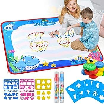 VARWANEO Aqua Magic Doodle Mats Both Sides Water Drawing Doodling Mat