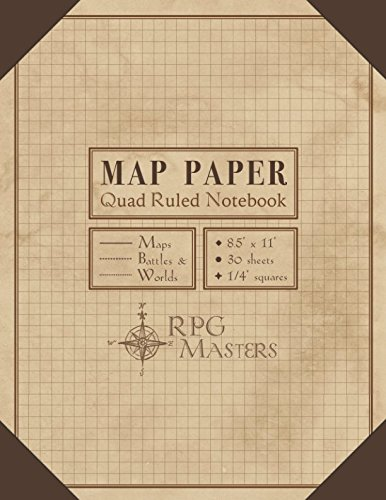 Map Paper: Quad Ruled Book for Map Making