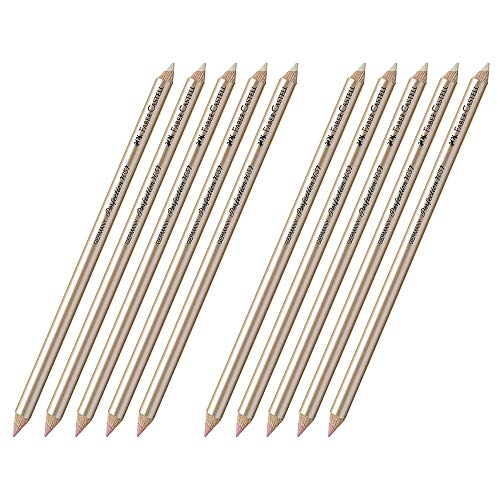 Faber-Castell Radierstift Perfection (10x 7057 | Doppelte Spitze | Weich & Hart)