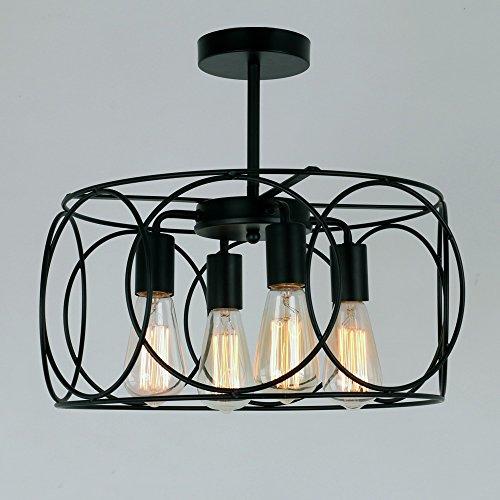LightInTheBox Lámpara colgante de 4 luces, tradicional/clásica, rústica/lodge vintage, lámpara de araña de pintura, montaje empotrado para sala de estar