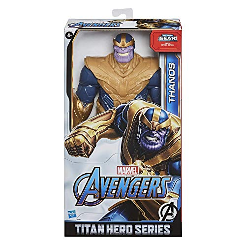 Avengers Marvel Titan Hero Series Blast Gear Deluxe Thanos Action Figure, 12-Inch Toy, Inspired by Marvel Comics, for Kids Ages 4 and Up