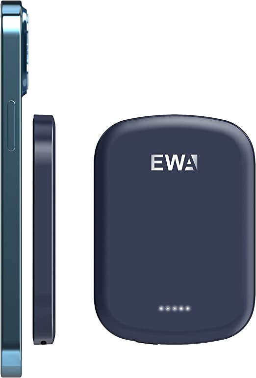 EWA Magnetic Wireless Power Bank Mini Portable Charger Fast Wireless Charging and USBC Quick Charge 4200mAh External Battery Pack Compatible with ipho at Kapruka Online for specialGifts