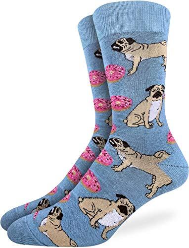 Good Luck Sock - Calcetines para hombre (tallas 7-12), color azul