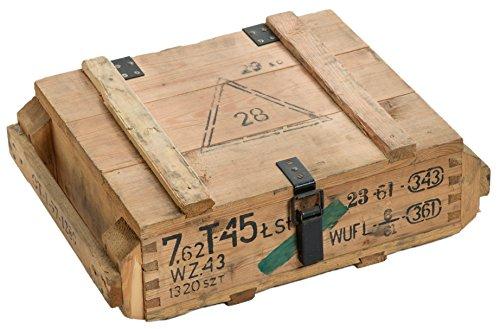 Munitionskiste T45 Natur Aufbewahrungskiste ca 49x37x18cm Militärkiste Munitionsbox Holzkiste Holzbox Weinkiste Apfelkiste Shabby Vintage