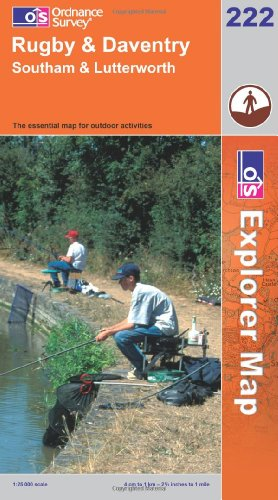 OS Explorer map 222 : Rugby & Daventry